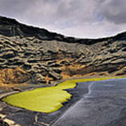 Green Lagoon On Lanzarote Art Print
