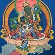 Green Tara  Art Print