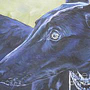 Greyhound Art Print by Lee Ann Shepard