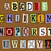 Grunge Alphabet Art Print