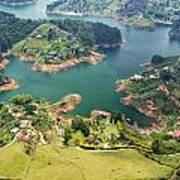 Guatape Lake Art Print
