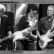 Guitar Legends Jimmy Page Jeff Beck And Eric Clapton Art Print