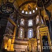 Hagia Sophia Church Istanbul Turkey Art Print