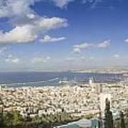 Haifa Bay Panorama Art Print