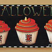 Halloween Cupcakes Art Print