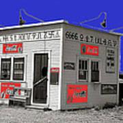 Hamburger Stand Coca-cola Signs Russell Lee Photo Farm Security Administration Dumas Texas 1939-2014 Art Print
