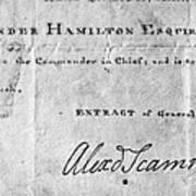Hamilton: Appointment, 1777 Art Print