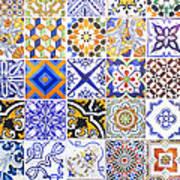 Hand Painted Portuguese Ceramic Tile Art Print