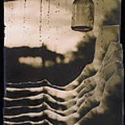 Hanging Bottle Rain Collage Old Tucson Arizona 1967-2012  Art Print