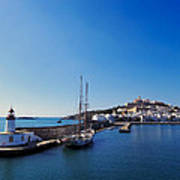 Harbor In Ibiza Town Art Print