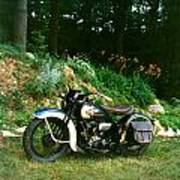 Harley Davidson  1935 Art Print