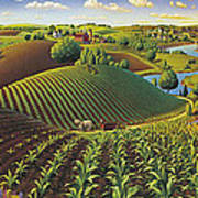 Harvest Panorama  Art Print