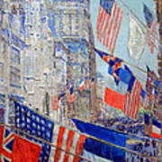 Hassam's Allies Day May 1917 -- The Avenue Of The Allies Art Print
