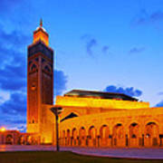 Hassan II Mosque In Casablanca Art Print