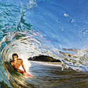 Makena Boogie Boarder Art Print