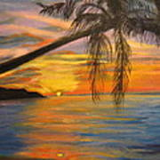 Hawaiian Sunset 11 Art Print