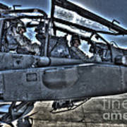 Hdr Image Of Pilots Equipped Art Print
