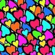 Hearts Art Print by Louisa Knight