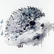 Hedgehog Art Print by Krista Bros