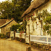 Helford Cottages Art Print