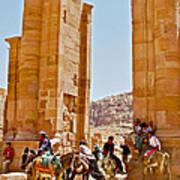 Hellenistic Gateway In Petra-jordan  Art Print