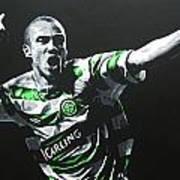 Henrik Larsson - Celtic Fc Art Print