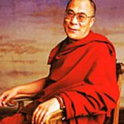 H.h. Dalai Lama Print by Jan W Faul