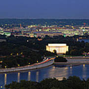 High Angle View Of A City, Washington Art Print
