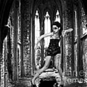 High Fashion Abandoned Church Art Print