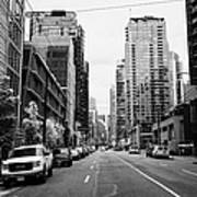 high rise apartment condo blocks in the west end west pender street Vancouver BC Canada Art Print