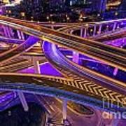 Highway Intersection In Shanghai Art Print by Lars Ruecker