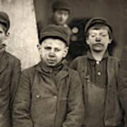 Hine Breaker Boys, 1911 Art Print