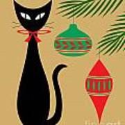 Holiday Cat Art Print