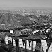 Hollywood And The Los Angeles City Skyline Art Print