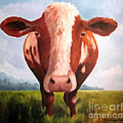 Holy Cow Art Print by Paula Marsh