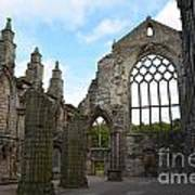 Holyrood Abbey Ruins Art Print