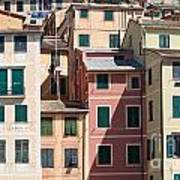 homes in Camogli Art Print