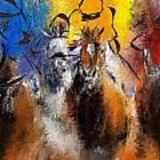 Horse Racing Abstract  Art Print