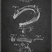 Horseshoe Patent Drawing From 1898 Art Print