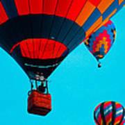 Hot Air Balloon Flight Art Print