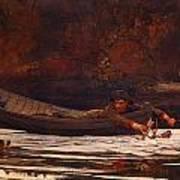 Hound And Hunter 1892 Art Print