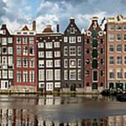 Houses In Amsterdam Art Print