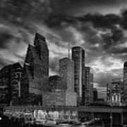Houston At Twilight Art Print
