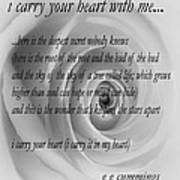 I Carry Your Heart With Me... Art Print
