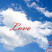 1 I Love You Heart Cloud Art Print