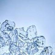 Ice Background With Copyspace Art Print