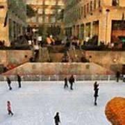Ice Skating In New York City Art Print