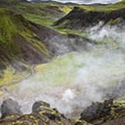 Iceland Steam Valley Art Print