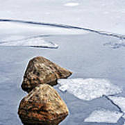Icy Shore In Winter Art Print