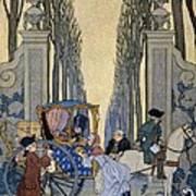 Illustration From 'les Liaisons Dangereuses'  Art Print